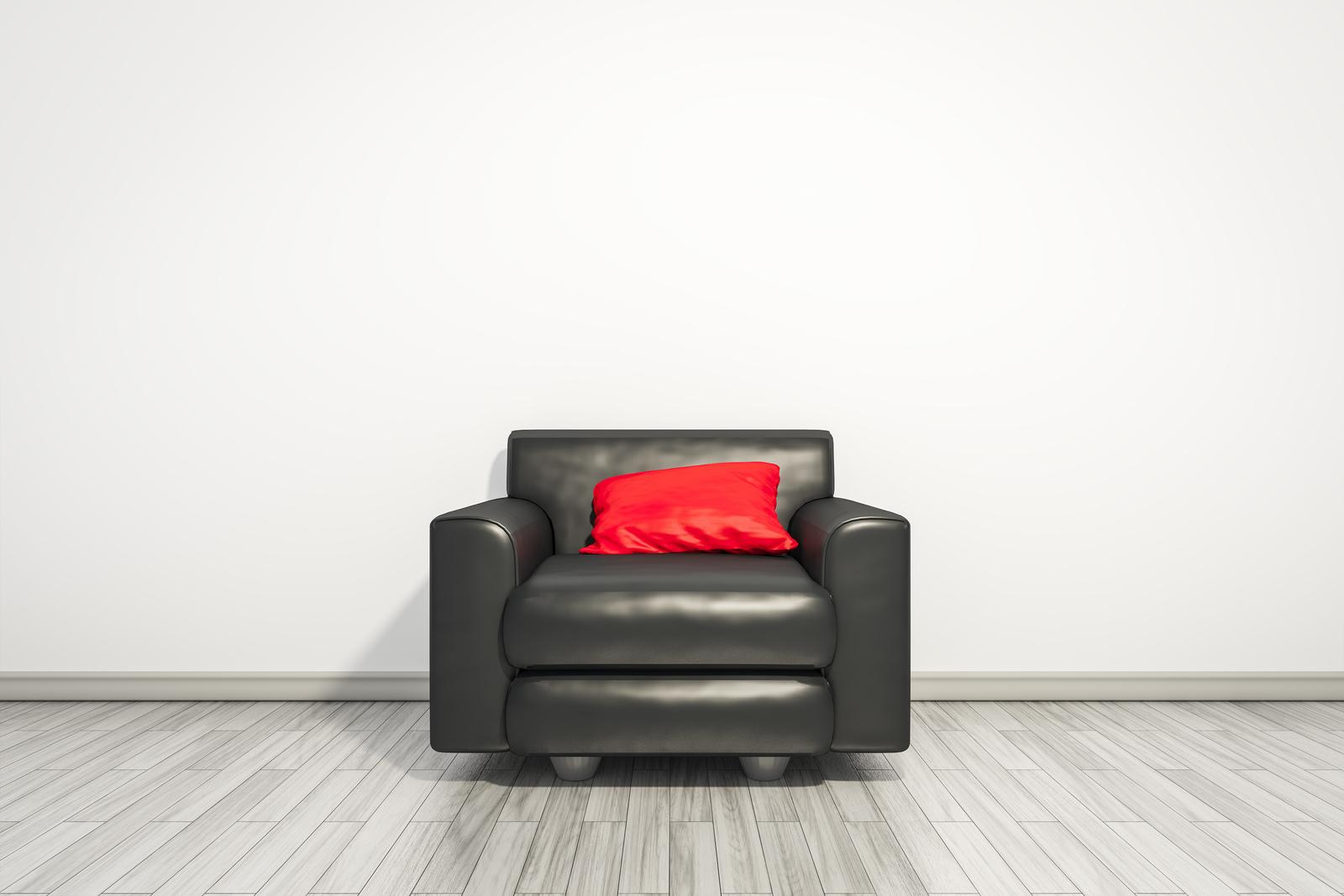 Wygodny fotel rozkładany w salonie